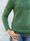 Sweater med raglan midt for