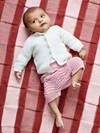Babytæppe med ternmønster