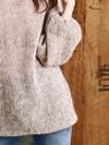 Gertrud - Bluse i perlestrik & glatstrik
