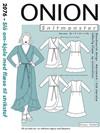 Snitmønster, Slå-om kjole med flæse til strikstof