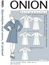Snitmønster, Plus-størrelser, Skjortekjole med revers, til strikstof