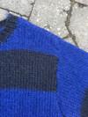 Bredstribet mohairtrøje
