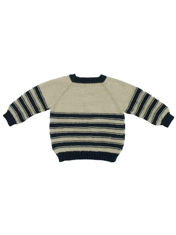 a4e7d607818 Oppefra og ned trøje med striber (børn) - Onion ApS