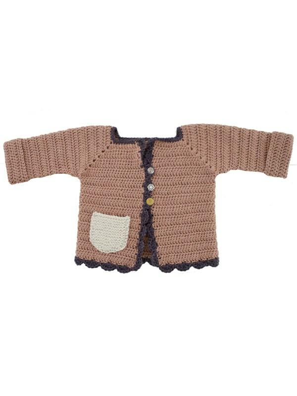 73aad9ec1fd Hæklet jakke (børn) - Onion ApS