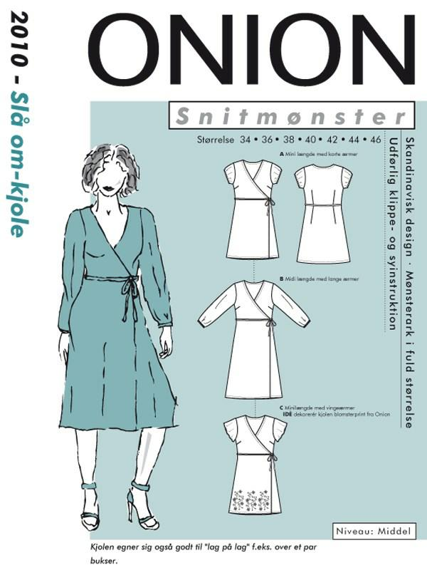 Snitmønster, Slå om kjole Onion ApS