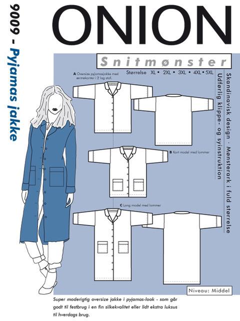 Snitmønster, Plus størrelser, Pyjamas jakke Onion ApS