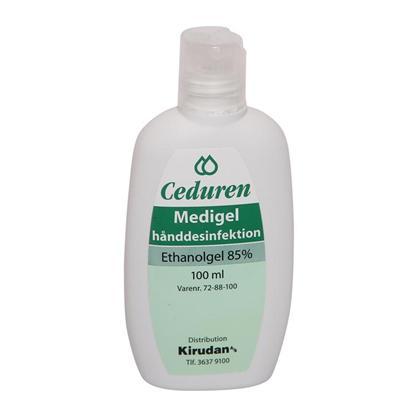 CEDUREN Medigel desinficerende gel 100 ml 85%