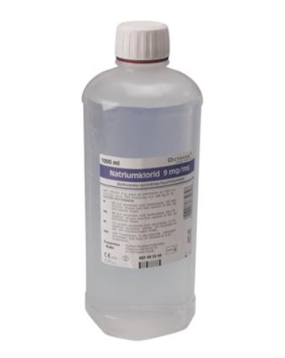 Saltvand, NaCl 0,9%, flaske, steril, 1000 ml 1 stk