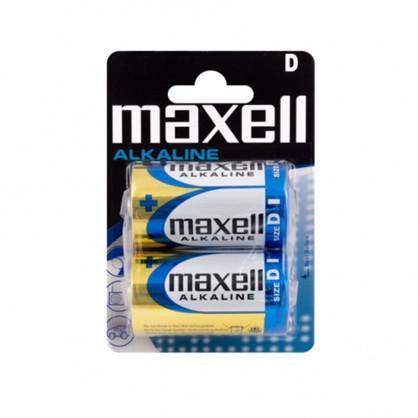 Maxell Long life Alkaline D / LR20 batterier - 2 stk.