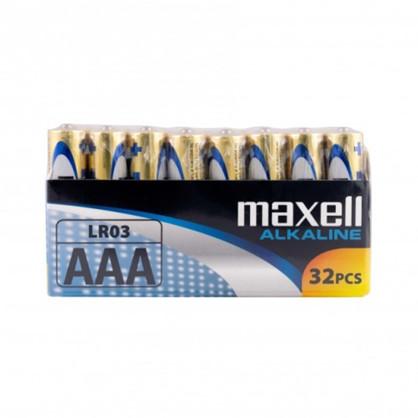 Maxell Long life Alkaline AAA/LR03 Shrink batterier, 32 stk