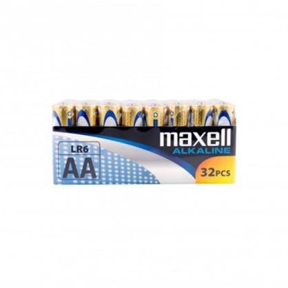 Maxell Long life Alkaline AA/LR6 Shrink batterier - 32 stk