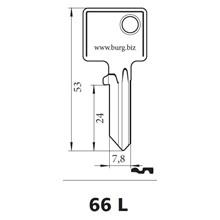Burg Wächter nøgleemne 66L