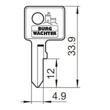 Burg Wächter nøgleemne 41L