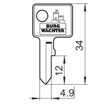 Burg Wächter nøgleemne 45L
