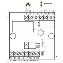 Fordelerprint 12/24 V AC/DC til 12 VDC, 1 relæ