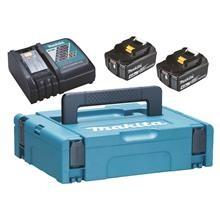 Makita Batteripakke 2 x 4 AH 18V batteri og lader