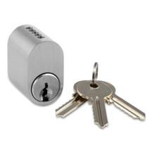 Oval cylinder 5-stift, inkl. 3 nøgler