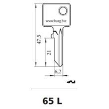 Burg Wächter nøgleemne 65L
