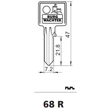 Burg Wächter nøgleemne 68R