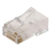 RJ45 modular plug UTP, stiv/flex leder, kat. 6