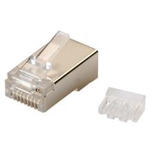 RJ45 modular plug FTP, kat 6 AWG 24-26, stiv/flex leder