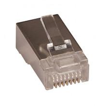 RJ45 modular plug FTP, 8P8C, blød leder