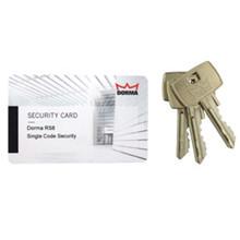 Dorma RS8 SC sikkerhedskort m. 3 nøgler
