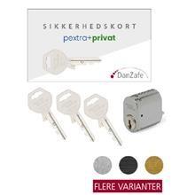 1 pextra+ 4060S-6 mat krom m/kort og 3 nøgler