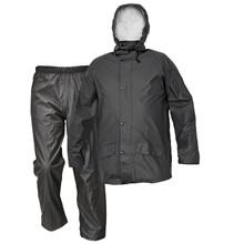 Siret regnsæt - PU/polyester - Sort