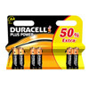 DURACELL AA PLUS POWER         (6 stk.)