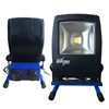 Blue Electric solid arbejdlampe med 230 V udtag samt USB udtag.