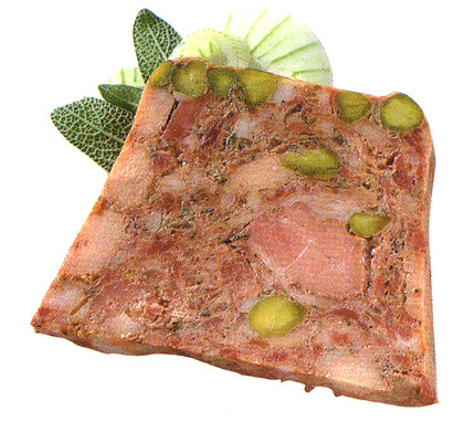 Perlehønepaté m/pistacienødder
