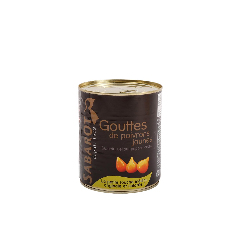 Dråbeformede gule peberfrugtstykker