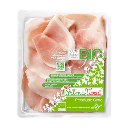 Kogt økologisk skinke i skiver