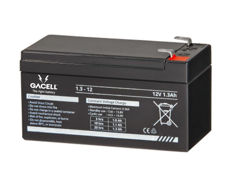 Batteri 1,3Ah/12V/97x48x52 <br />Drift - AGM - General Purpose