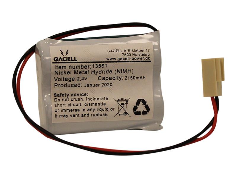 Batteripakke 2,15Ah/2,4V - komplet <br />Elektronik - Ni-Mh