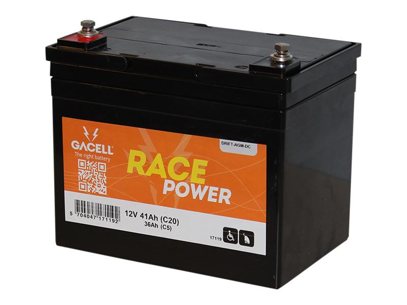 Batteri 41Ah/12V/195x130x160 HD <br />Drift - AGM - Deep Cycle