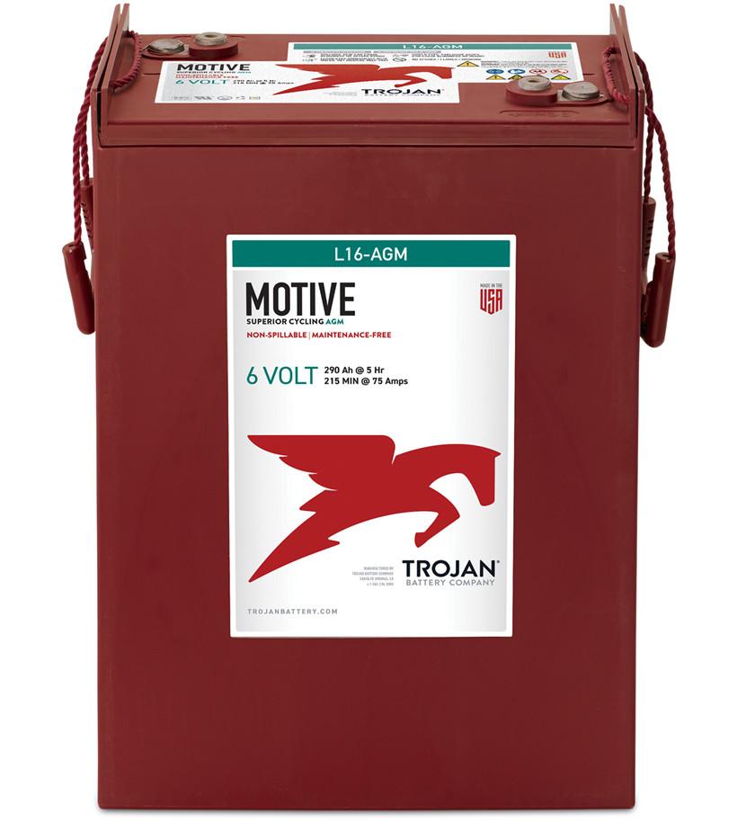 Batteri 370Ah/6V/295x178x415 <br />Drift - AGM - Deep Cycle