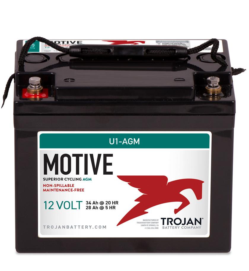 Batteri 34Ah/12V/195x130x160 <br />Drift - AGM - Deep Cycle