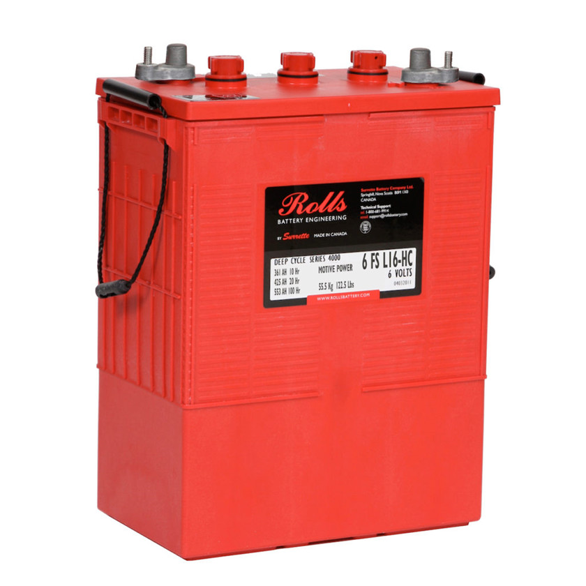 Batteri 425Ah/6V/298x181x424 <br />Drift - Flooded - Deep Cycle