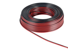 Cabel, 10qmm, twilling, 1m <br />coppercable, black / red