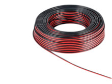 Cabel, 25qmm, twilling, 1m <br />twilling Coppercabel, black / red