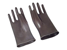 Gummi handsker str. 8 <br />Tilbehør