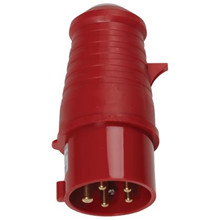 Plug, CEE 400V/32A, Red  <br />Accessories