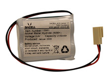 Battery pack 2,15Ah/2,4V - complete <br />Electronics - Ni-Mh