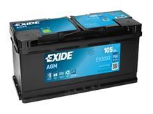 Battery 105Ah/12V/393x175x190 <br />Start - Auto - AGM