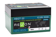 Batteri 22Ah/12,8V/168x128x102 <br />Drift - Li-Ion