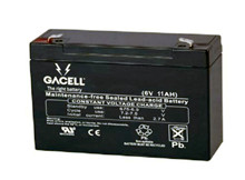 Batteri 11Ah/6V/151x51x94 <br />Stationær - AGM - Longlife