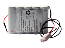 Batteri 0,75Ah/6V/73x15x50 <br />Stationær - Ni-Cd - Kompatibel
