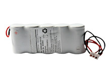Batteri 1,2Ah/6V/113x44x24 <br />Stationær - Ni-Cd - Kompatibel
